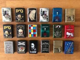 18 Zippo Style Novelty Windproof Lighters