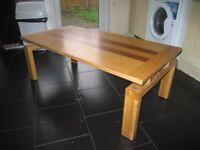 Solid oak table (few wear marks)