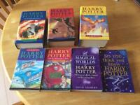 7 X Harry Potter books