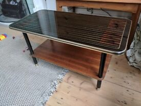 70s Black Coffee Table