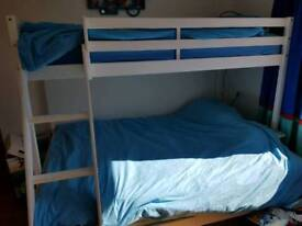 Triple wooden bunk bed ##price reduced for quick sale
