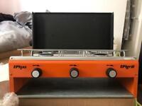 Brand new retro 70s camp kitchen EPIgrill low pressure stove.