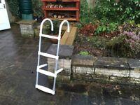 Boat Boarding Ladder, four steps, lightweight aluminium