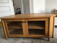 Oak Corner TV Unit/Stand/Cabinet