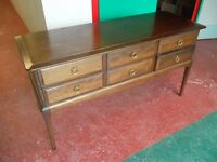 STAG MINSTREL DESK / DRESSER / HALL TABLE