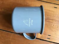 BRAND NEW 4 X large grey enamel mugs camping/outside dining/garden