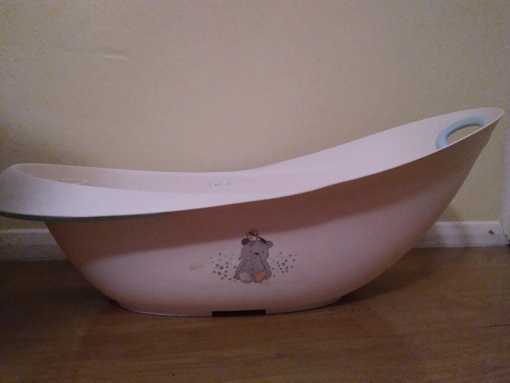 BabyBath Full Set: Mothercare bath + support,Baby support sponge ...