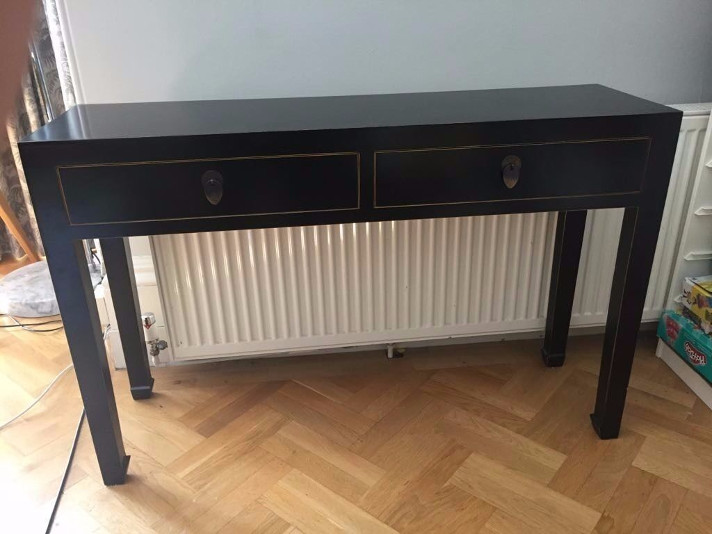 Large john lewis black chinese console hall table in for John lewis chinese furniture