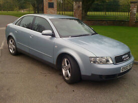 Audi a4 quatro 2002. 2.5dti. 180 bhp in silver blue matalic .