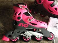 Girls adjustable inline skates - NEW - size J13 up to 3