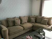 corner sofa with chair