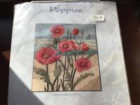 Longstitch Kit Poppies. Tapestry