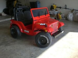 Power Wheels Jeep Wrangler with New Battery