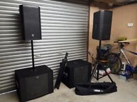 Active PA system. Suit band or DJ