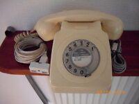 TELEPHONE WHITE BT FINGER DIAL