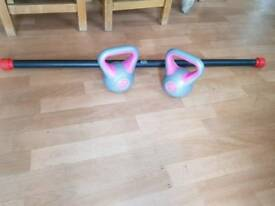 Kettlebell and Weighted Bar Set
