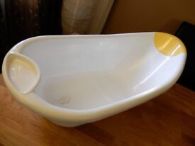 mothercare baby bath and top and tail bowl - unisex design - excellent condition
