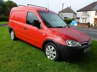2004 53 Vauxhall Combo 1.7 Turbo Diesel. Brand New M.O.T..Low Mileage. Alloy Wheels