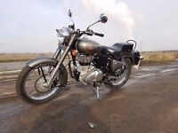 Royal Enfield Bullet 500 EFI, only 2 months old, 390 miles in Athena grey