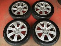 17'' GENUINE AUDI A6 ALLOY WHEELS AND TYRES 5X112 TOURAN SHARAN