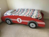 Kids/child car shaped bed with mattress