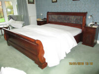 SUPER KINGSIZE SLEIGH BED,