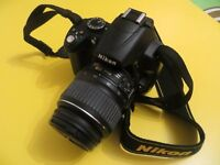 Nikon D5000 12.3MP Digital SLR Camera - Black (Kit w/ AF-S DX VR ED G 18-55mm)