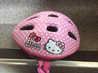 Hello Kitty safety helmet and elbow knee pads pre school
