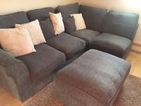 Corner Sofa with stool/ Great condition!