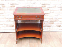 Vintage style leather top compact desk green (Delivery)