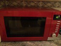 Microwave, Toaster, Dish rack and bread bin bundle