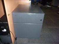 Used under desk 2 drawer pedestal cabinet
