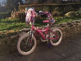 """Girls Bicycle 22"""" to top of saddle 26"""" to top of handles"""