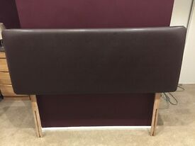 Kingsize Faux Leather Headboard, excellent condition