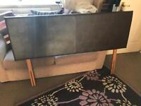 Faux leather king size headboard