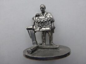 Mechanic Model English Miniatures pewter sculpture.