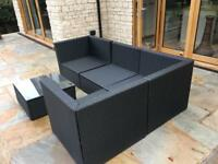 Black Rattan corner sofa set