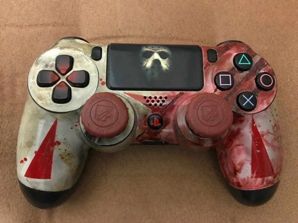 PS4 Dualshock Controller Friday The 13th Jason Voorhees Edition | in  Cardiff | Gumtree