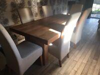 Solid oak dining