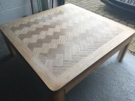 Coffee Table (Large wooden coffee table - 96cm x 96cm)