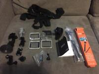 GoPro hero 4 silver + accessories + extra memory