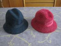 Two Kangol ladies' hats