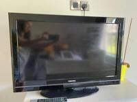 "32"" Toshiba LCD TV and compatible ALBA DVD player"