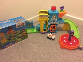Vtech Toot-Toot Drivers Police Station with additional track