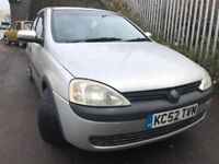 Vauxhall Corsa 2003 1.2 Petrol Silver 5dr Breaking For Spares *wheel nut*