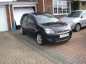 (2008) FORD FIESTA ZETEC 1.4 TDCI MET/BLACK 5 DOOR (TWO OWNERS 78000 MILES FSH ONLY £30 A YEAR TAX)