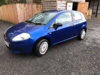 Very tidy blue fiat grade punto with low milage.