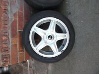 """16"""" MINI ALLOY WHEELS AND TYRES SET OF 4"""