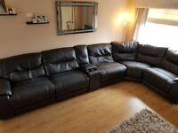 Leather Corner Group Sofa