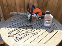 """Stihl MS 211 Professional Chainsaw 16"""" Bar, Stihl Oil, 3 Chains! And Bar Cover"""